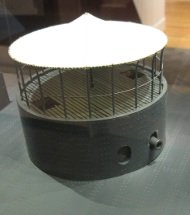 picture of uss monitor turret from a model