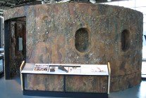 picture of uss monitor turret replica as found
