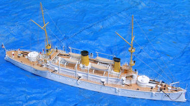 uss olympia finished model broadside bird's eye view photo
