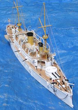 uss olympia finished model bow quarter view photo