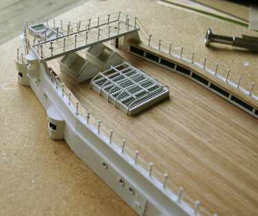 superstructure railing and walkways detail photo