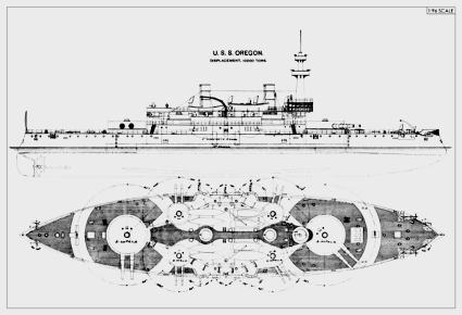 uss oregon plans
